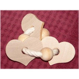 Busy Bunny Wooden Heart Ring Toss