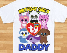 Load image into Gallery viewer, Beanie Boos  - Birthday T-shirt (family)