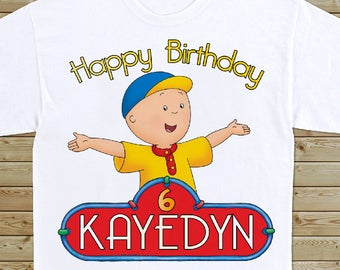 Caillou - Birthday T-shirt