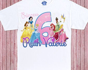 Classic Princesses - Birthday T-shirt