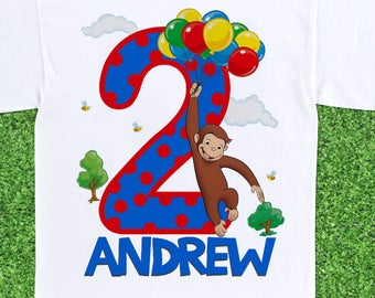 Curious George - Birthday T-shirt