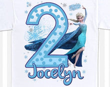 Load image into Gallery viewer, Frozen- Birthday T-shirt