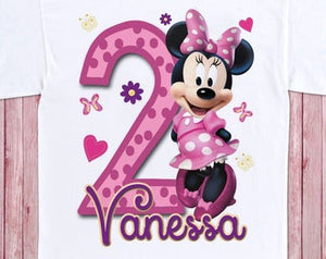 Minnie Mouse - Birthday T-shirt