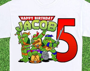 Ninja Turtles - Birthday T-shirt