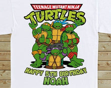 Load image into Gallery viewer, Ninja Turtles - Birthday T-shirt