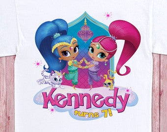 Shimmer and Shine - Birthday T-shirt