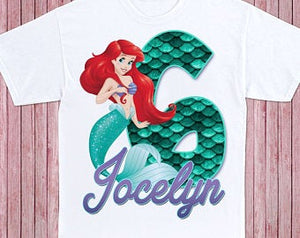 The little Mermaid  - Birthday T-shirt