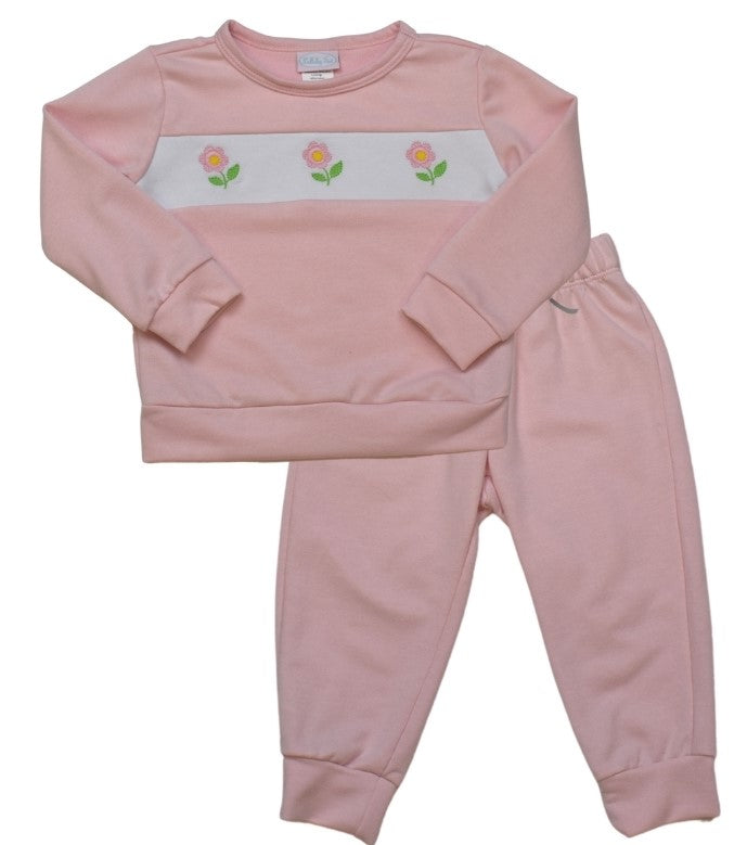 Sweatsuit - Lt Pink/Flower - All Day Play