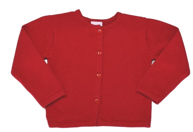 Burrow Button Down Sweater - Red Knit