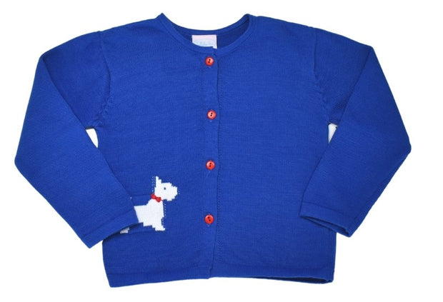 Burrow Button Down Sweater - Scottie Dog