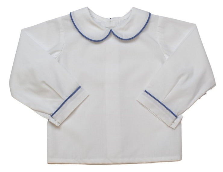 Sibley Shirt LS - White/Blue - Valentine