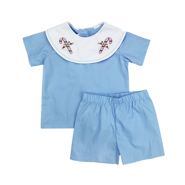 Sweet Pea PJ Set - Blue Party