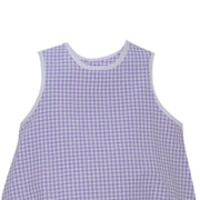 Beth Bubble - Purple Gingham