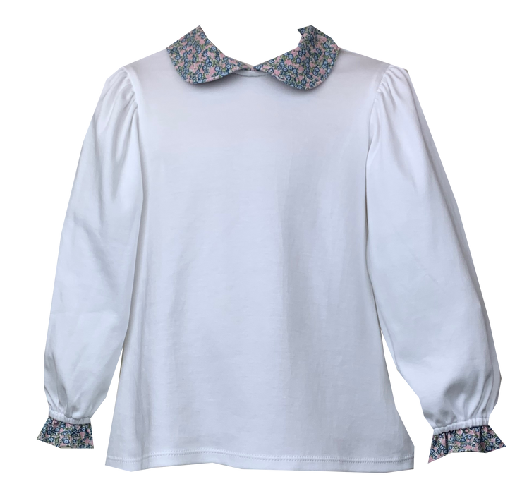 Better Together Blouse - White/Floral