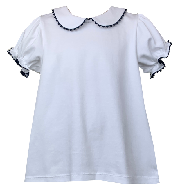 Better Together Blouse -  White/Navy - Perfect Day to Play