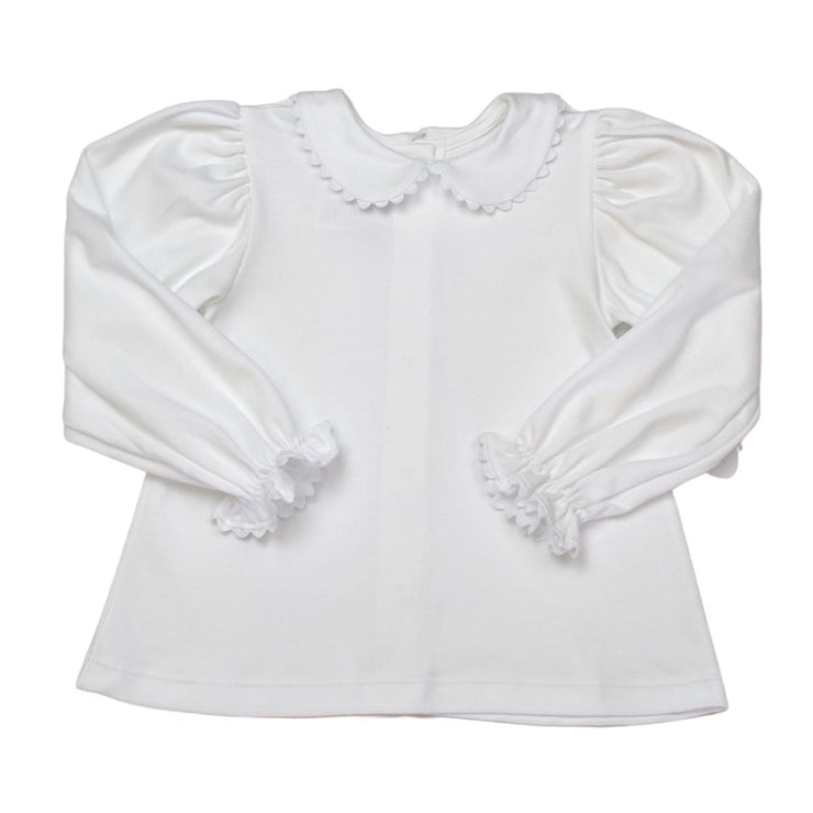 Better Together Blouse - LS - White/White RR - Royal