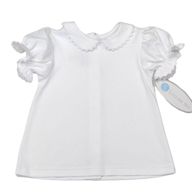 Better Together Blouse - SS - White/White RR - Royal