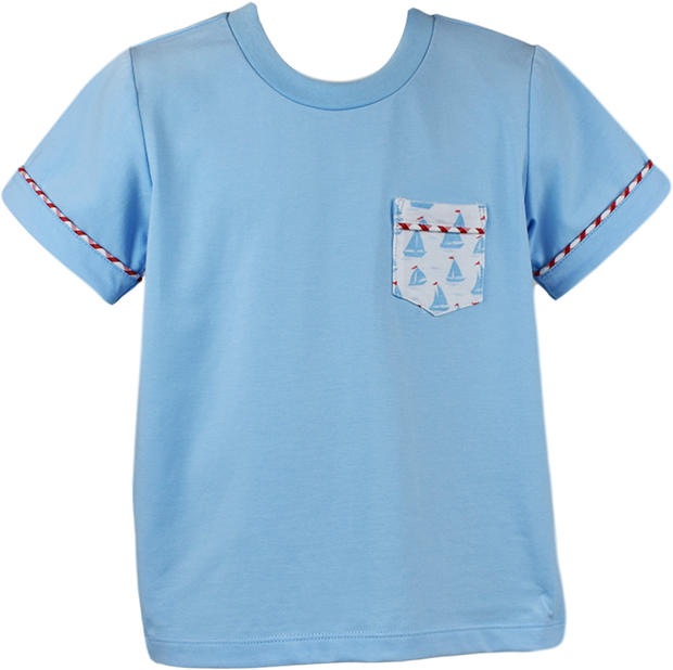 Charlie Shirt - Blue Sailboat