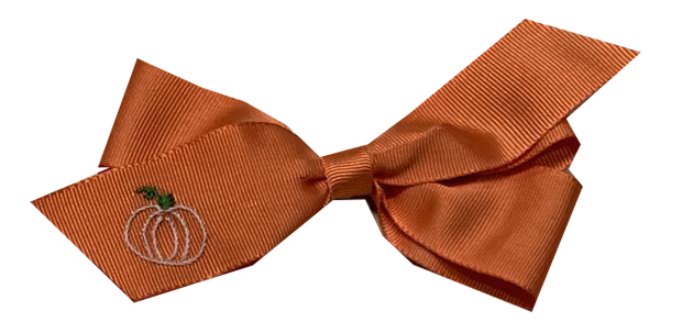 Hair Bow - Orange Pumpkin - Pick of the Patch