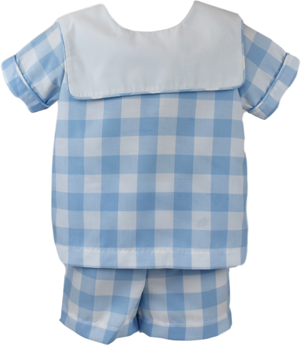 Christian Short Set - Large Blue Plaid