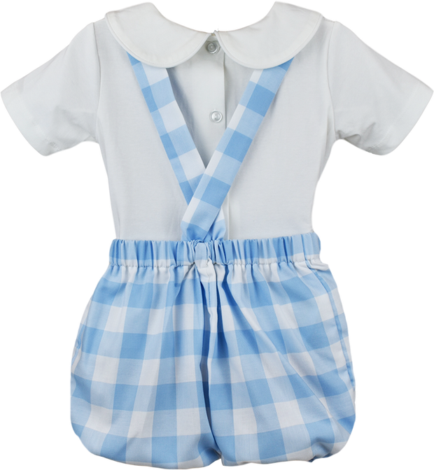 Arthur Apron Set - Large Blue Plaid