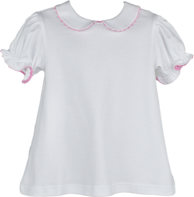 Better Together Blouse - SS - White/Pink RR