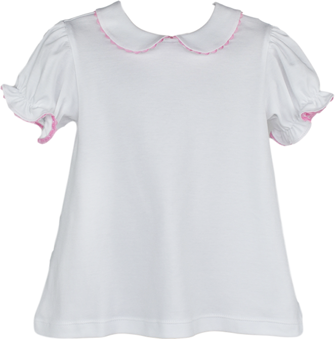 Better Together Blouse - SS - White/Pink RR - Valentine
