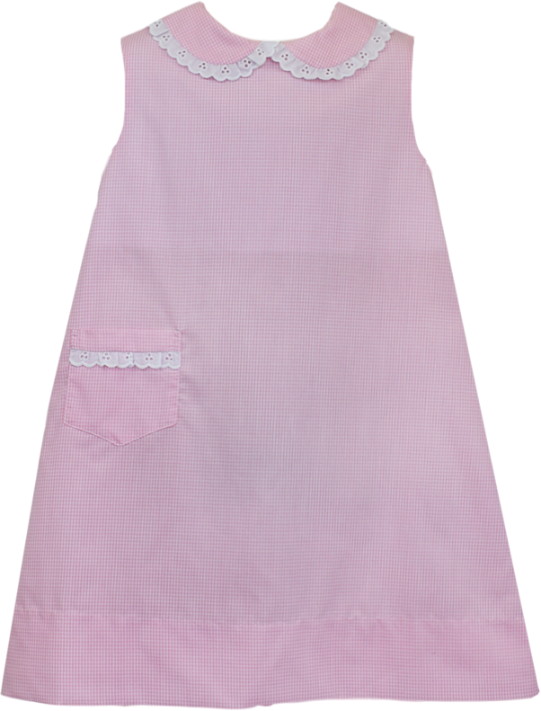 Olivia Dress - Pink Mini Gingham