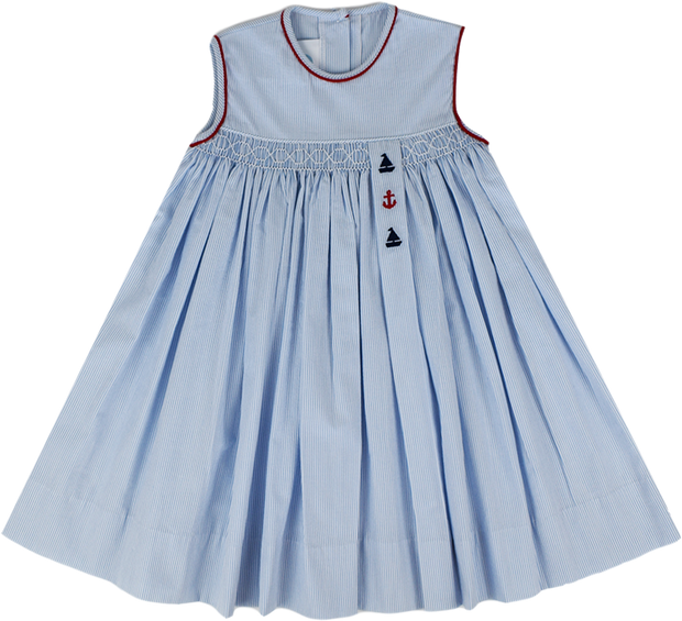 Maylin Dress - Blue/White Stripe