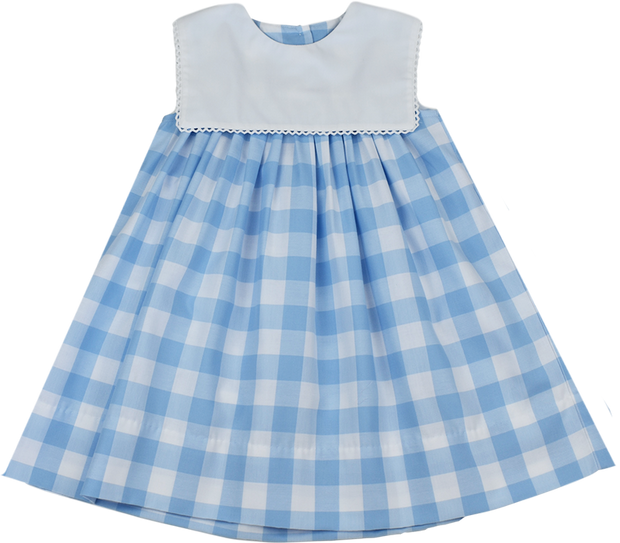 Hope Chest Dress - Large Blue Plaid - Keep Blooming