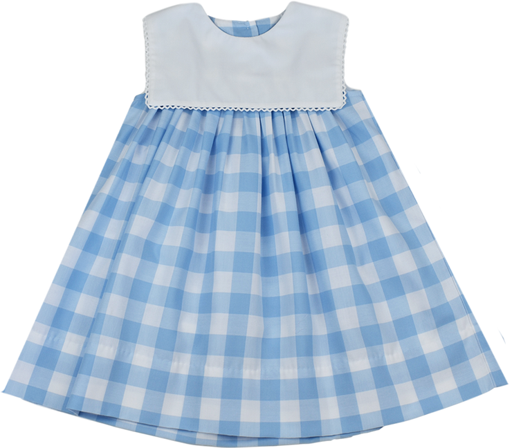 Hope Chest Dress - Large Blue Plaid