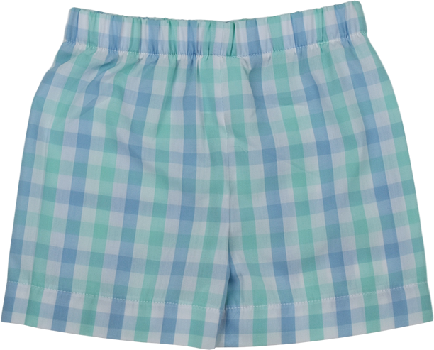 Stewart Short - Blue/Green Plaid