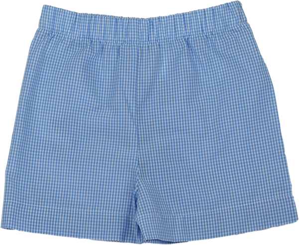 Stewart Short - Blue Gingham