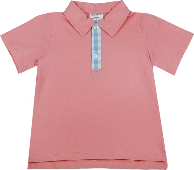 Parker Polo - Peach/Plaid