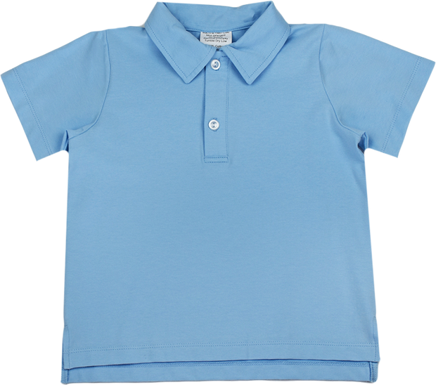 Parker Polo - Blue Knit