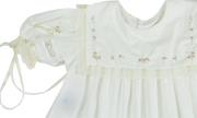 Elle A. Dress - Vintage white with Colored Embroidery
