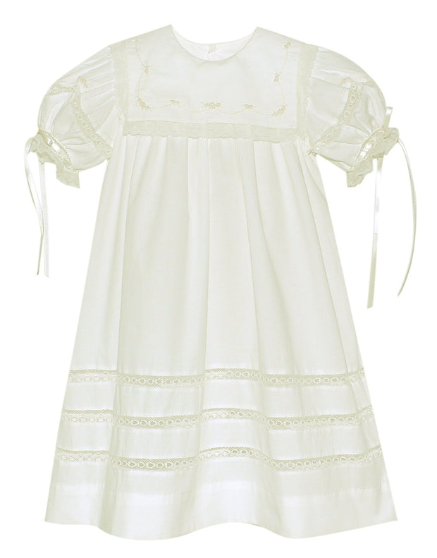 Elle A. Dress - Vintage white with Ecru Embroidery