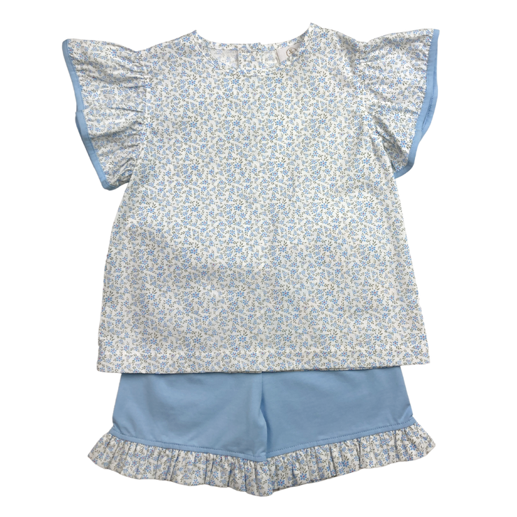 Angel Short Set - Blue Floral