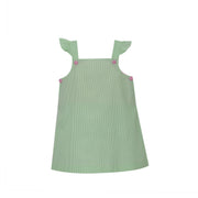 Jill Dress - Green Stripe