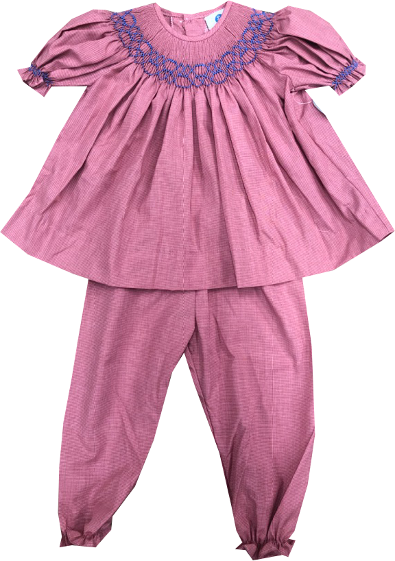 Playtime Bloomer Pant Set - Red MG - Valentine