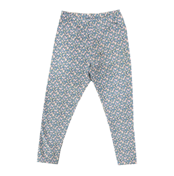 Lucy Legging - Blue Floral - Keep Blooming