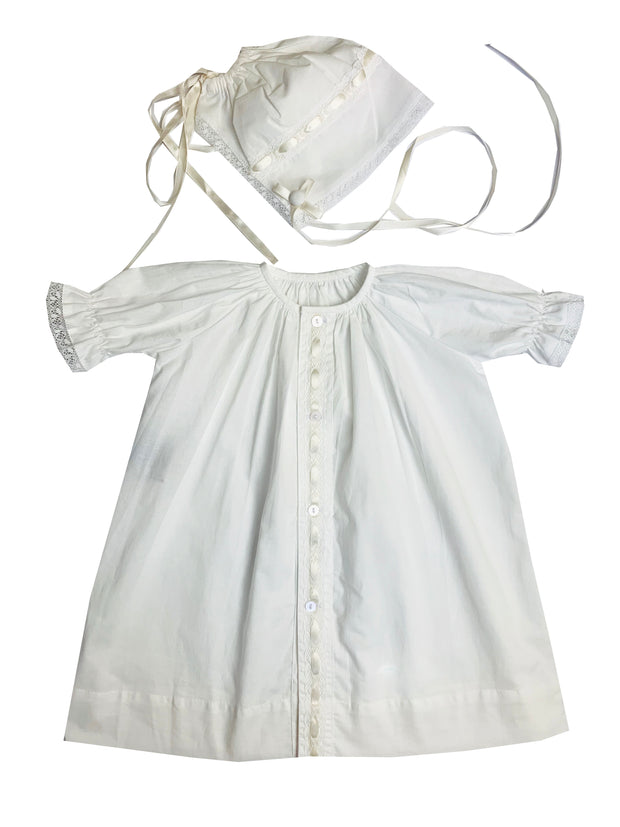 Original Daygown & Bonnet - Ecru