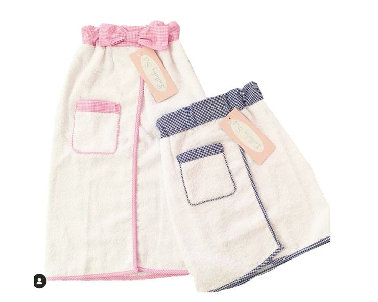 Tiny Tot Towel Wrap - Pink or Blue