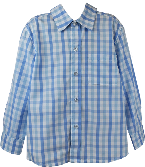 Brees Button Down - Blue Plaid