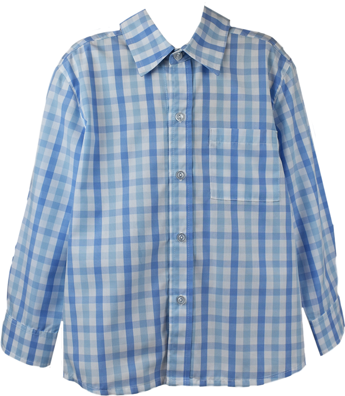 Brees Button Down - Blue Plaid - Little Bunny Foo Foo