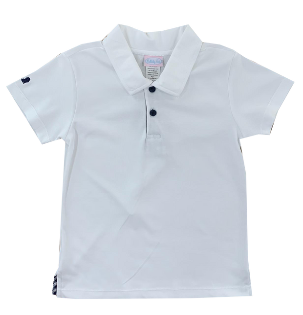 Prince George Polo - White/Navy MG