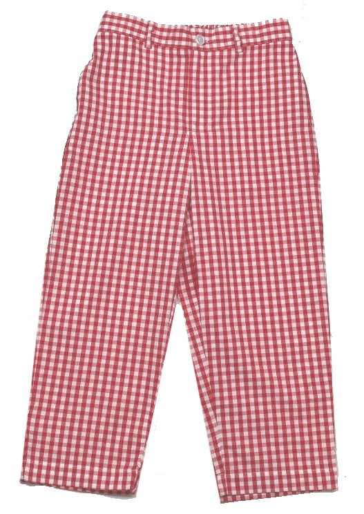 Princeton Pant - Red Gingham - Cheer Proud