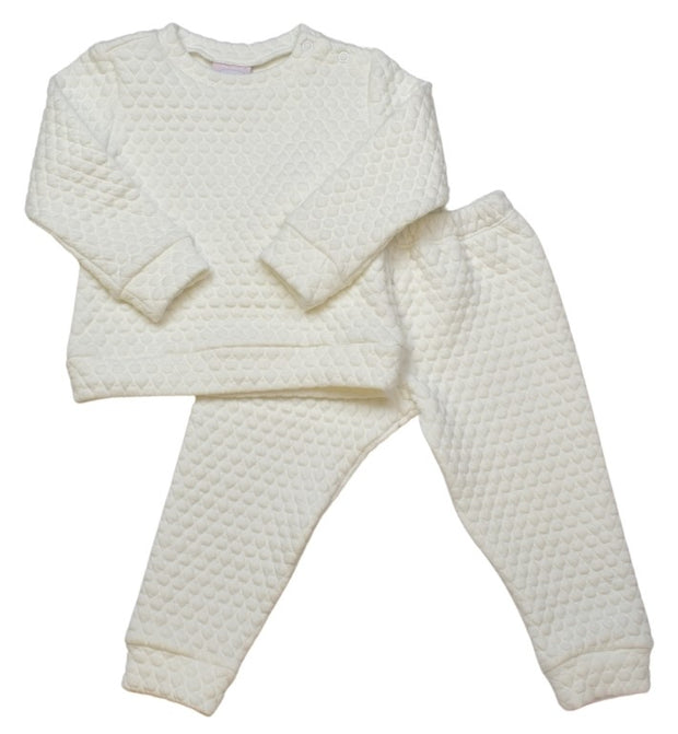 Quilted Sweatsuit - White
