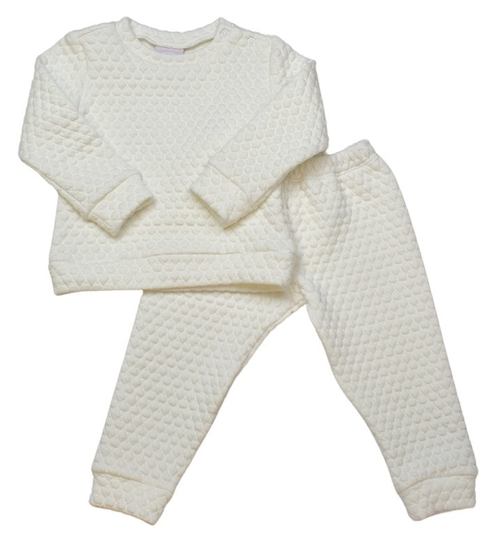 Quilted Sweatsuit - White - All Day Play