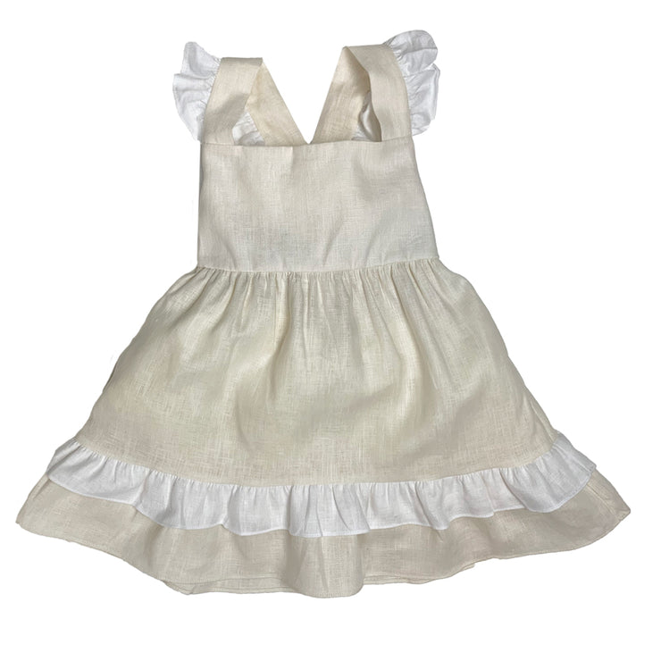 Rachel Ruffle Dress - Linen